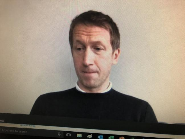 Graham Potter spoke via video link today