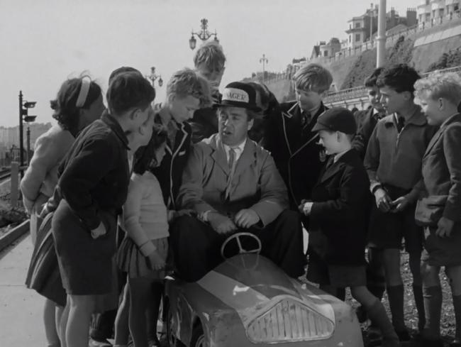 Carry On actor Peter Butterworth starred alongside a band of children in 1955's Playground Express. Photo British Film Institute