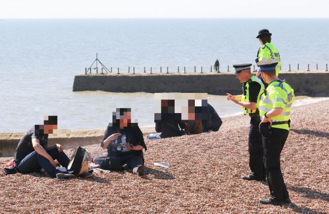 Hove beach barbecue during lockdown