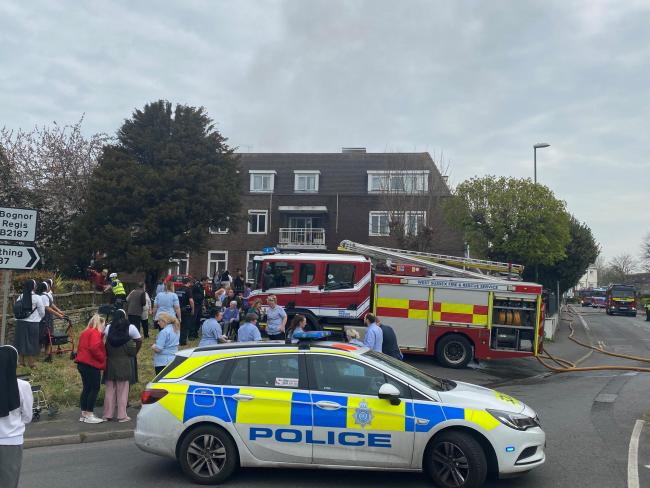 St Joseph's Nursing Home in Littlehampton was evacuated when a fire broke out