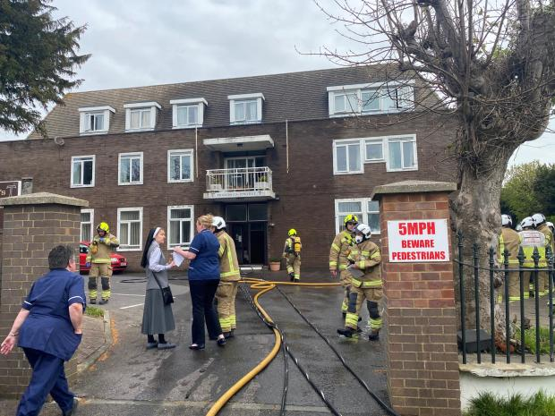 The Argus: Firefighters tackled the blaze at St Joseph's Nursing Home in Littlehampton
