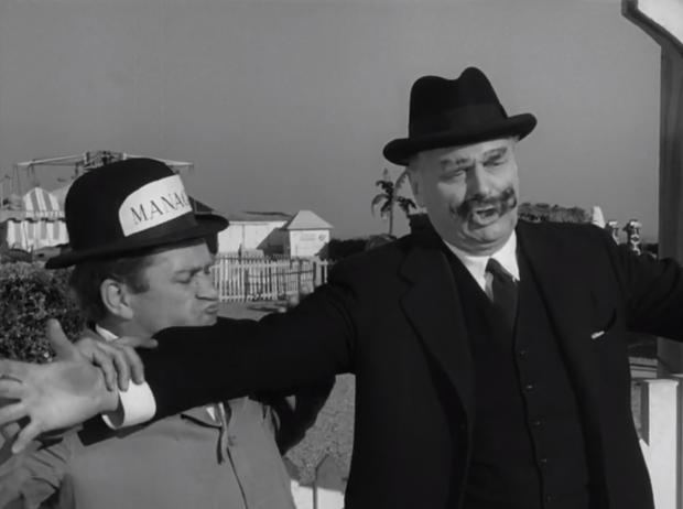 The Argus: Mr Butterworth, left, and the child-hating Mr Crossington. Photo British Film Institute