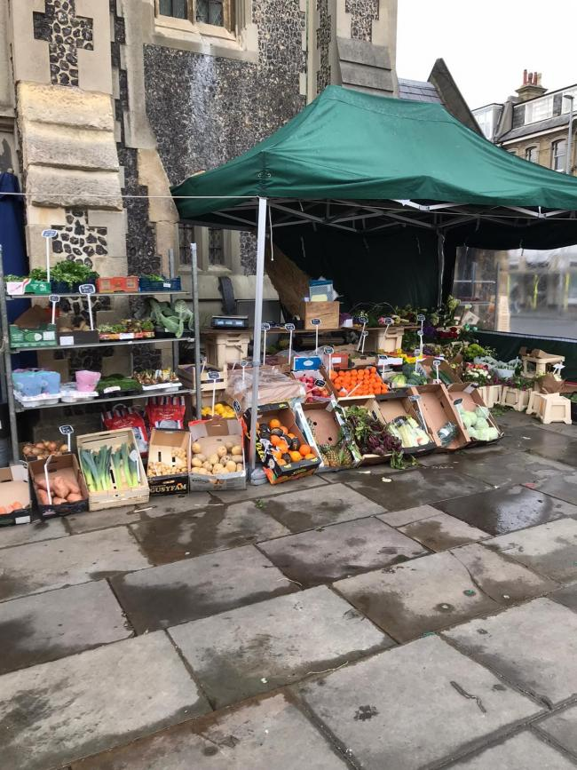The Flower Stand in Palmeira Square is selling fruit along with flowers