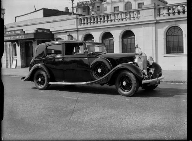 The Argus: A Rolls-Royce in Lewes Crescent, 1937
