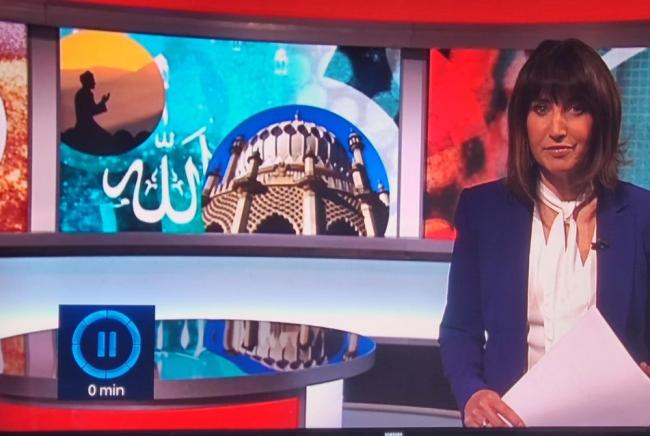 Brighton Pavilion was included in a BBC report about Ramadan last night