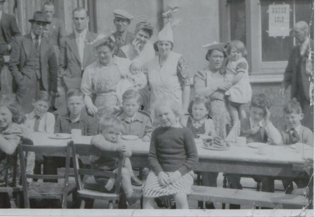 The Argus: Gordon Hewitt, sitting to the far left, was nine when the Second World War ended