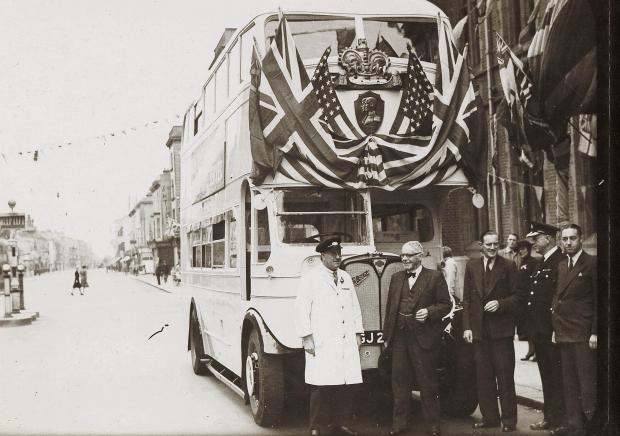 The Argus: A Victory Bus outside Hove Town Hall. Photo: Royal Pavilion and Museums