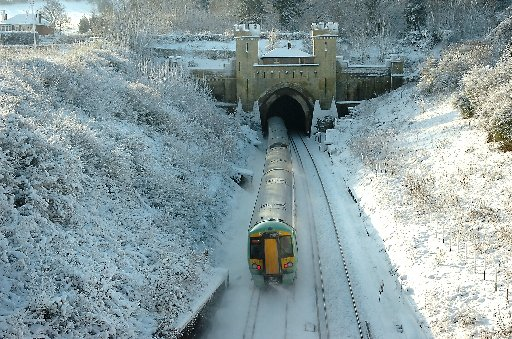 Sussex transport hit by ice and snow