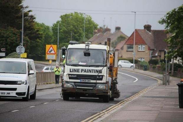 The Argus: The new markings were painted over the bank holiday weekend