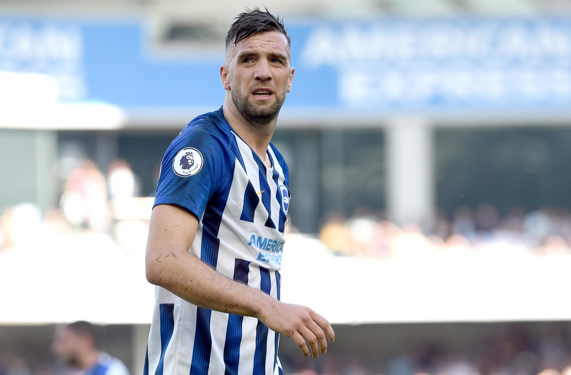 Brighton and Hove Albion's Shane Duffy thanks fans after father's funeral