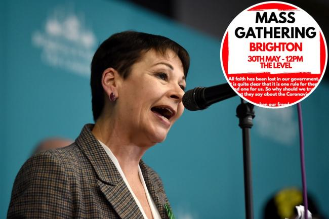Caroline Lucas has responded to plans for a mass gathering at The Level in Brighton at the weekend