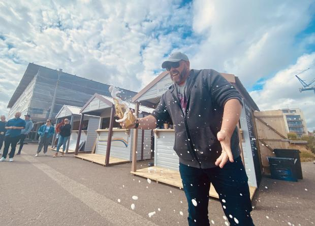 The Argus: Mr Davis at the Shacks By The Shore June opening