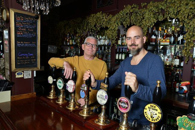 Ian Wilson and his partner Philip Rees, of the Queen Victoria pub in Rottingdean