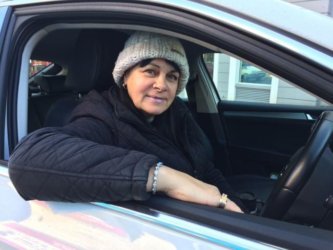Cindy Tehrani, who has been a cab driver in Brighton for 35 years