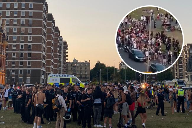 Fights break out in massive gathering of youths on Hove Lawns
