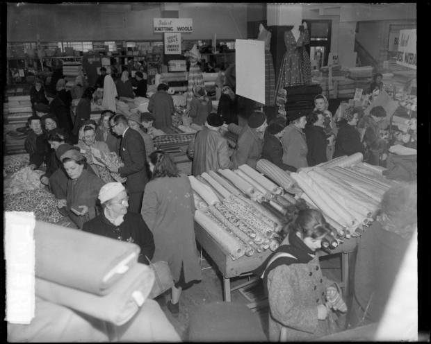 The Argus: January sales in Bellman's, most likely in 1956. Photo: East Sussex Record Office/The Keep