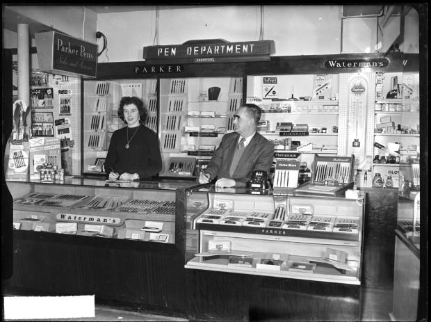 The Argus: The pen department of John Beal and Son in East Street, Brighton. Photo: East Sussex Record Office/The Keep