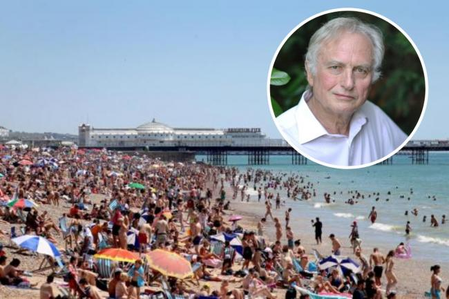 'People of very low intelligence' Richard Dawkins blasts Brighton beachgoers