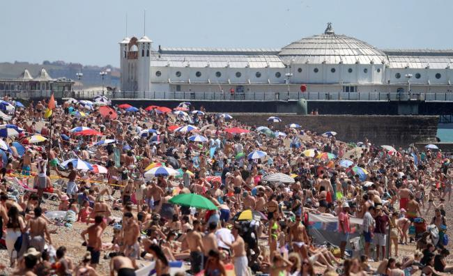 Brighton beach has been rammed on several occasions in recent weeks