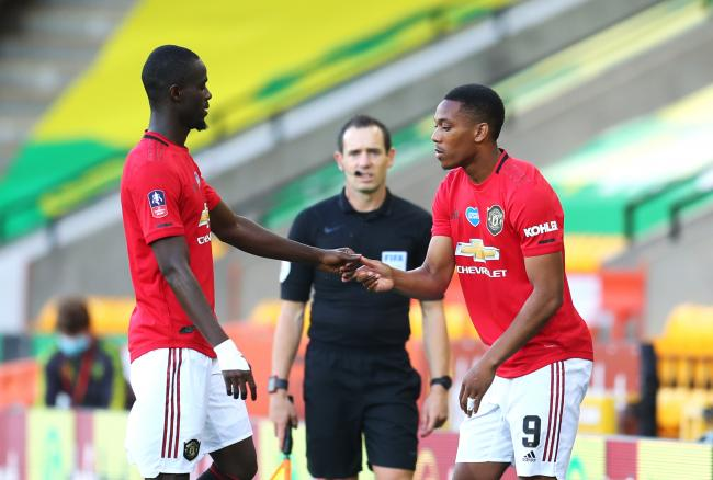 Anthiny Martial had to go on as sub against Norwich in the FA Cup