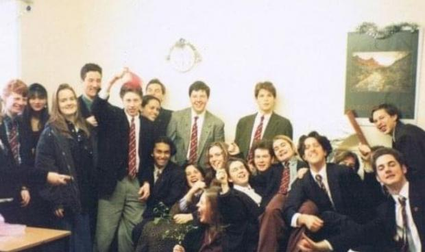 The Argus: Jonathan, seventh from right, at Lewes Old Grammar School in the 1990s