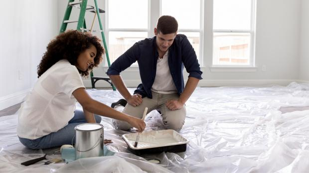 The Argus: Prepping your workspace with a drop cloth or plastic covering is a key part of the process. Credit: Getty Images / SDI Productions