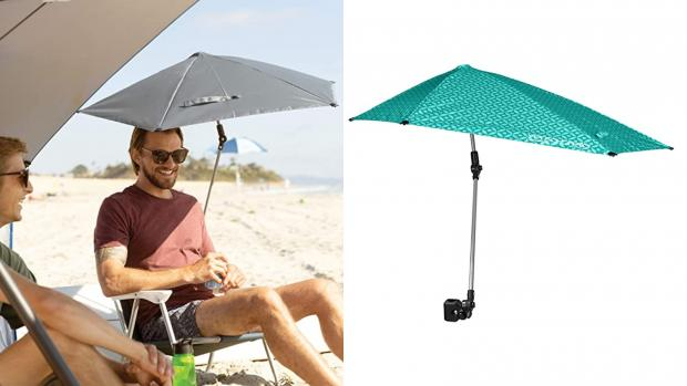 The Argus: Take a break from the sun with this clip-on umbrella Credit: Amazon