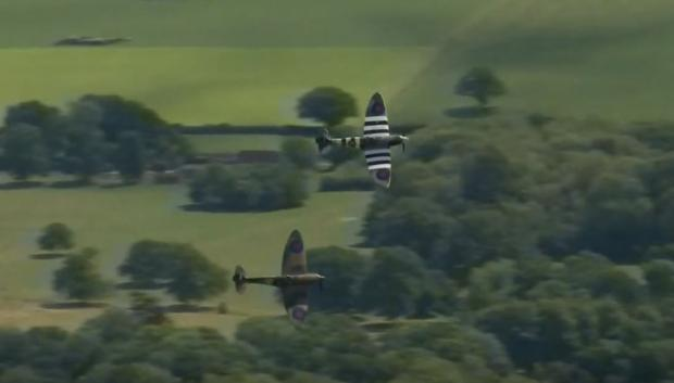 Spitfires soar over Sussex in tribute to Dame Vera Lynn Credit: ITV News