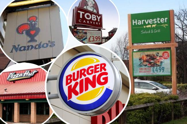 A number of chains have signed up for the new Eat Out scheme in the UK, including Burger King, Pizza Hut, Nando's and Harvester