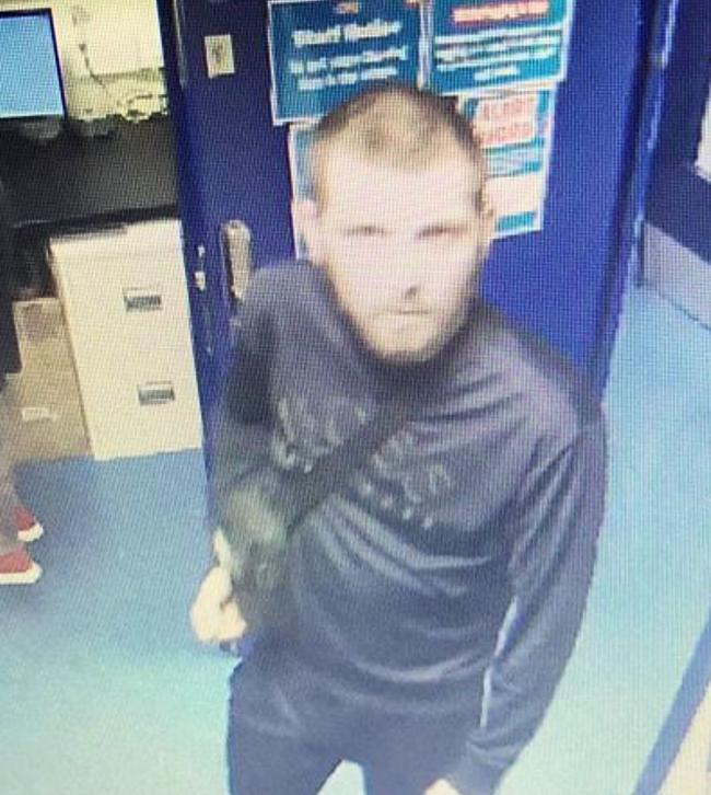 Police are looking for this man in connection with the theft of £60,000 of stock from Smyths toy shop in Crawley