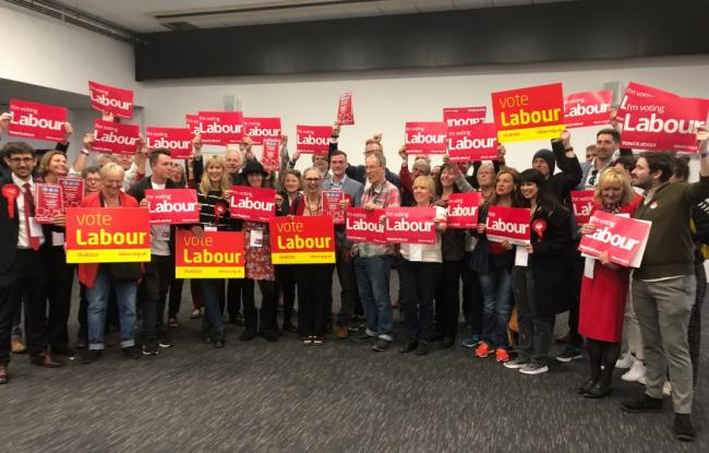 Labour Group celebrate after winning the most amount of seats at the May 2019 Local Elections