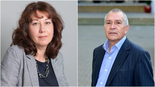Brighton Conservatives leader Councillor Steve Bell, right, has called on Brighton and Hove City Council leader Councillor Nancy Platts
