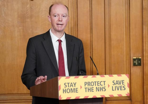 The Argus: Professor Chris Whitty at a press briefing earlier this year