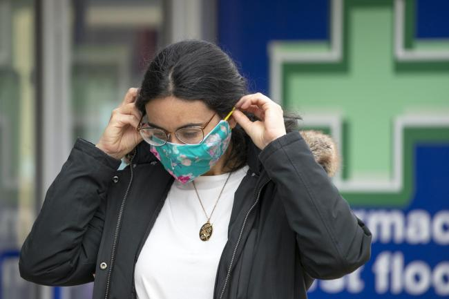 Woman in face mask