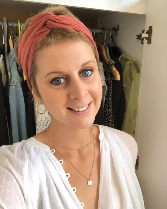 Samantha Amos from Portslade, who was diagnosed with breast cancer at the age of 28