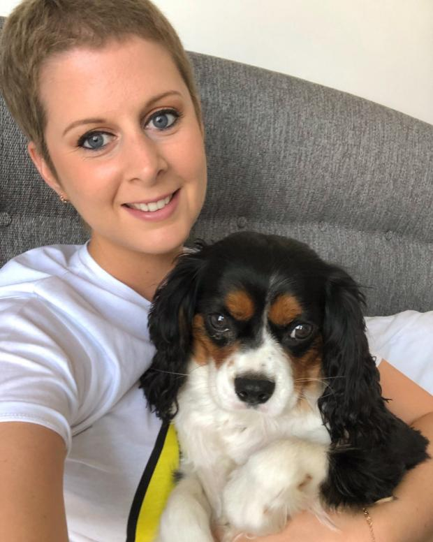The Argus: Samantha with her dog Archie, who was a great comfort during her treatment