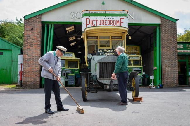 Amberley Museum reopened to the public for the first time in four months yesterday