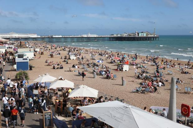 The Argus: Beaches in Brighton were busy again today. Photo: Eddie Mitchell