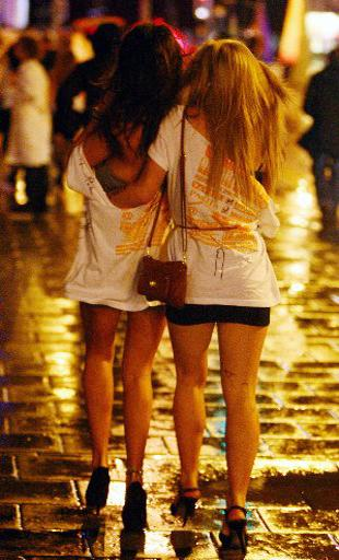 BOOZED UP: Two girls on the Carnage pub crawl in Brighton late last year