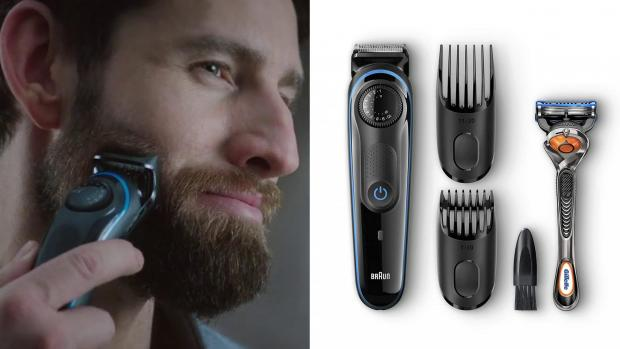 The Argus: This Braun trimmer comes with a variety of accessories to help you clean your edges perfectly. Credit: Braun