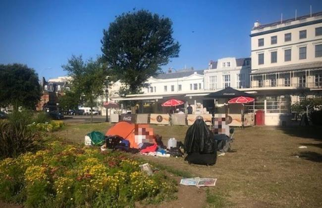 Residents are concerned over tents at Old Steine Gardens