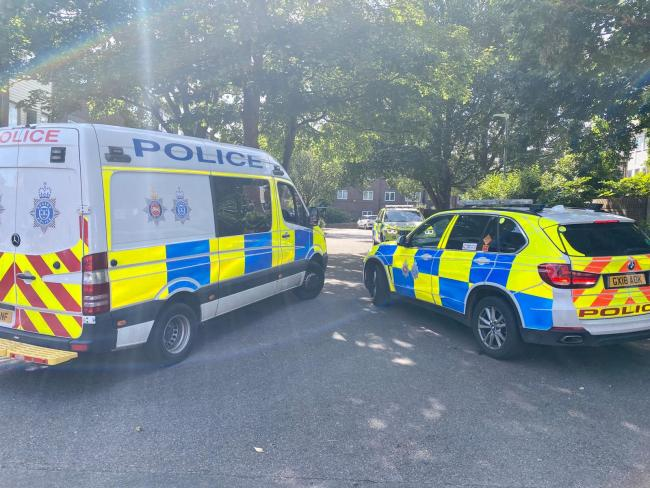 Police were called over the incident in Portland Road, Hove