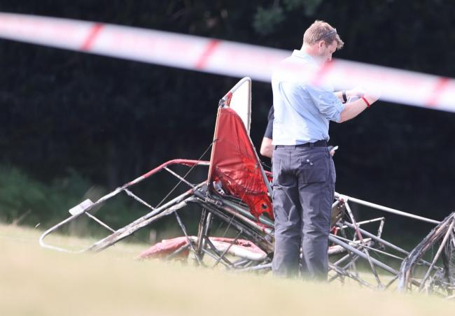 A pilot died after a plane crashed and caught fire off Herring Lane, near Heathfield