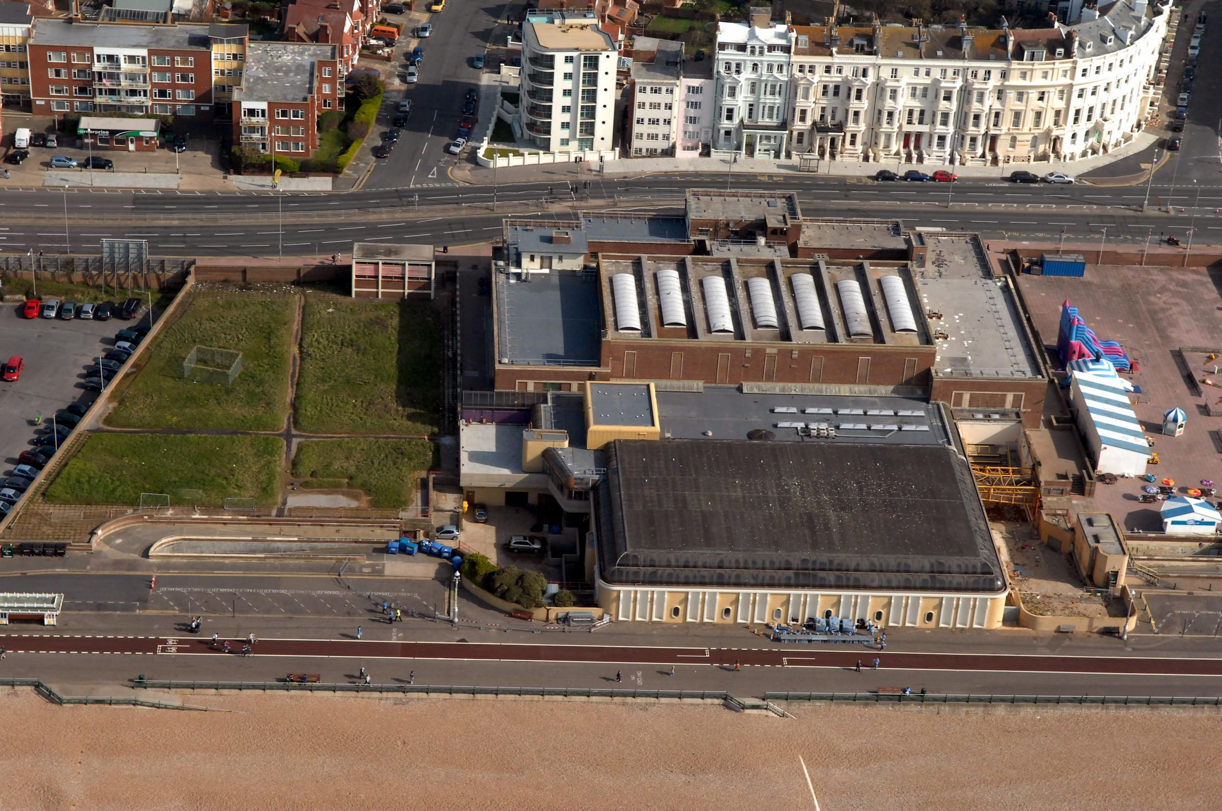 Brighton, Hove and Shoreham from the air..King Alfred, Hove..Picture TERRY APPLIN.
