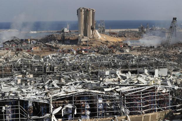 The Argus: The scene of the explosion in Beirut. AP Photo/Hussein Malla