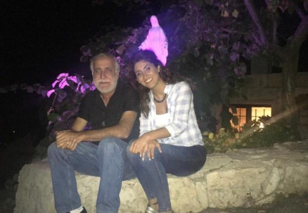 The Argus: Pamela Hajal with her father Antoine