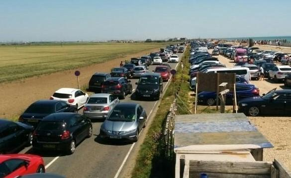 The car parks are full at Camber Sands