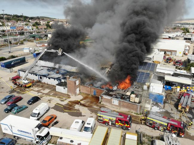 The fire in Newhaven was among 101 calls West Sussex Fire and Rescue Service dealt with over the weekend. Photo: Eddie Mitchell