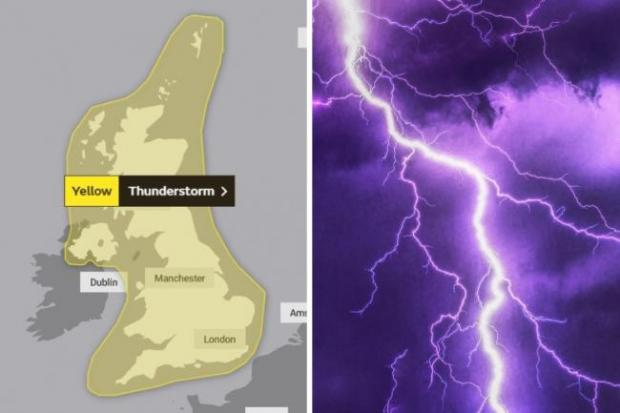 The Argus: The Met Office said the south east would experience thunderstorms between Wednesday and Thursday