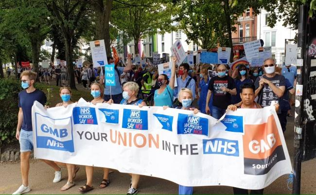 NHS workers will hold another protest tomorrow over pay